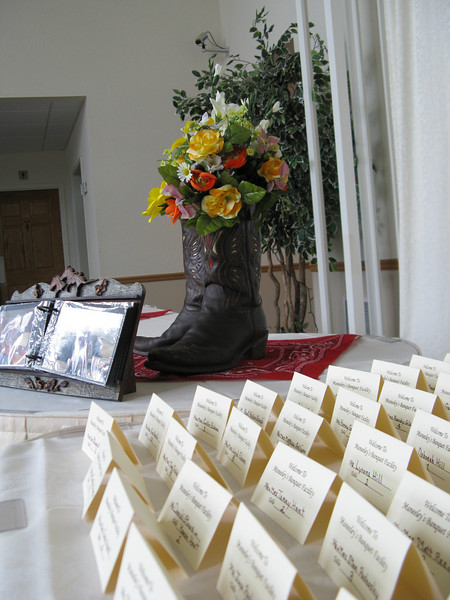 Entrance Card Table for Country and Western Wedding Western themed picture