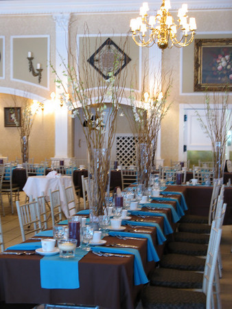 mjdecorations Chocolate and Teal Wedding I was not involved in the table