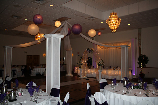 mjdecorations Lavender and Purple Wedding White lighted dance canopy with
