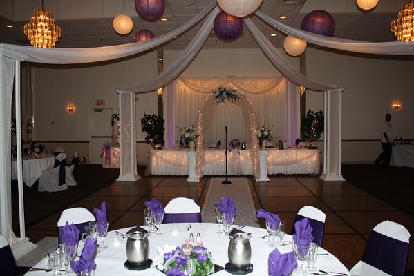 The bride had a very dark purple and a lavendar color scheme