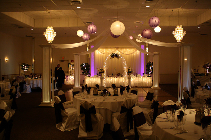 Purple and Lavendar Wedding Lighted Dance Canopy with lavendar and white