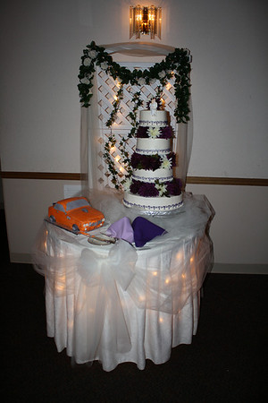 Cake Table The cakes were made by Saltbox Cakes The wedding cake was